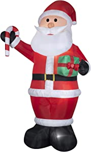Gemmy Industries 36715 12', Giant, Air Blown Santa with Gift and Candy Cane