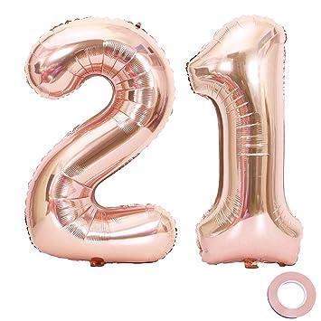 XXL-Folienballons im Set für 12 Geburtstag in gold