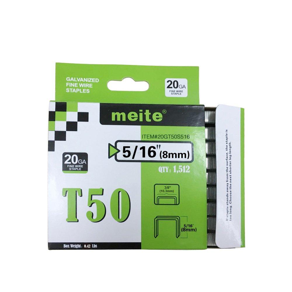 meite 20GT50S516 Genuine T50 Series 5/16-Inch Leg Length Staples 1512-Pack(30 boxes/case) (30 Packs (1 Case))