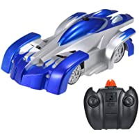 GAZtoy Remote Control Transforming Wall Climbing Stunt CAR - Dual Modes 360° Rotation Anti-Gravity with LED Lights in…