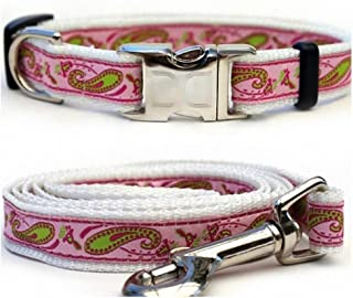 "product image for Diva-Dog 'Boho Pastel' Custom Small Dog 5/8"" Wide Dog Collar with Plain or Engraved Buckle, Matching Leash Available - Teacup, XS/S"
