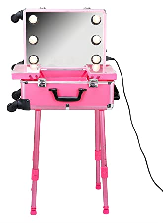 Say Professional Makeup Trolley Box With Light And Mirror
