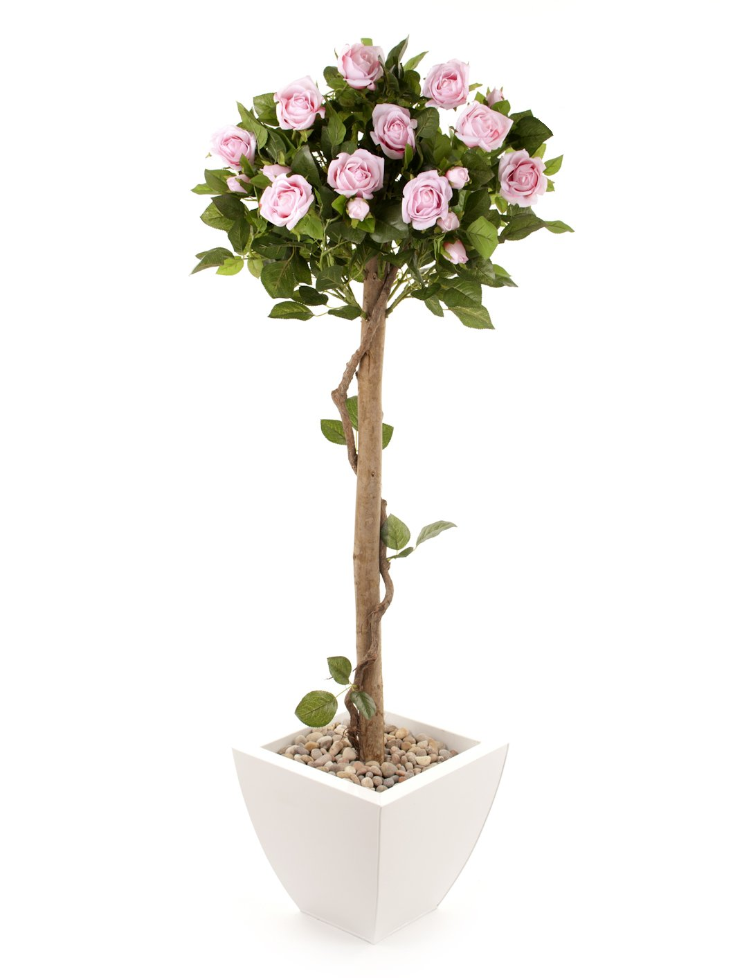 Closer2Nature Artificial 4ft Pink Rose Tree - Portofino Planter Not Included FT033PW