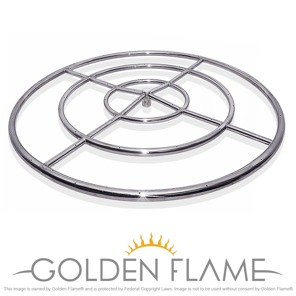 36'' Round Fire Pit Burner Ring (304 Series SS)