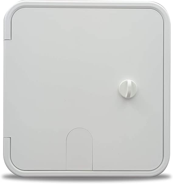 Thetford 94334 Small 30//50 Amp Electric Cable Hatch with Thumb Latch Polar White