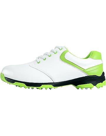 timeless design 0b9e1 ba44b PGM Chaussures de Golf Imperméables Anti-Dérapantes avec des Crampons pour  Les Hommes