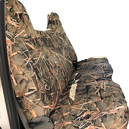 995 Front Solid Bench Extra Thick A25 Seat Covers Molded Headrest Small Notched Cushion (Muddy Water Camo) ()
