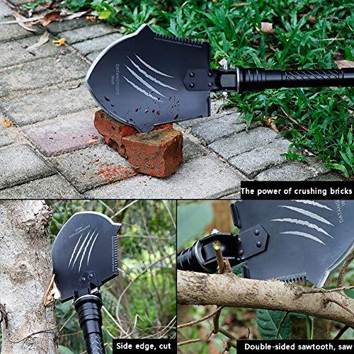 YXCXC Multifunctional Military Shovel Large Car Military Shovel Folded Military Shovel Outdoor Camping Self-Defense Tool Wolf Claw Mark by YXCXC (Image #5)