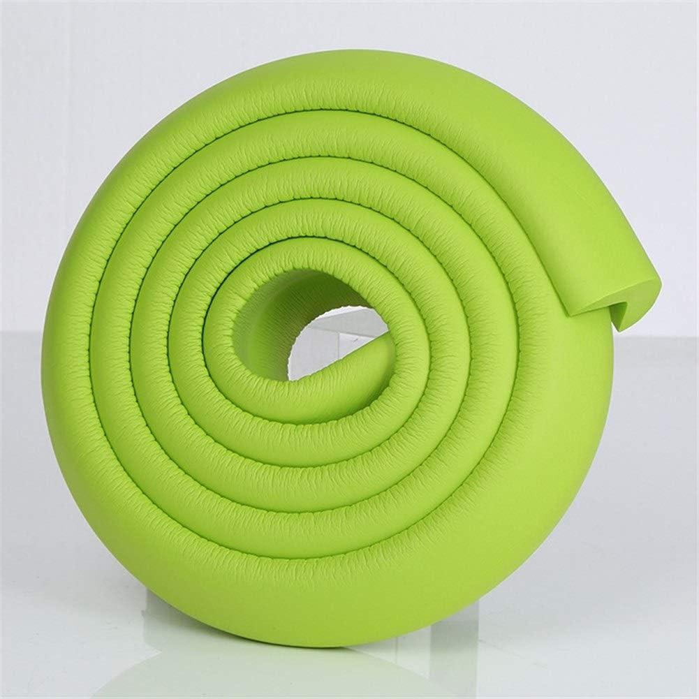 Color : Yellow 2M seguridad del beb/é Escritorio esquinero Guardia de goma Tabla Protecci/ón de los ni/ños L en forma de arista 2pcs suaves