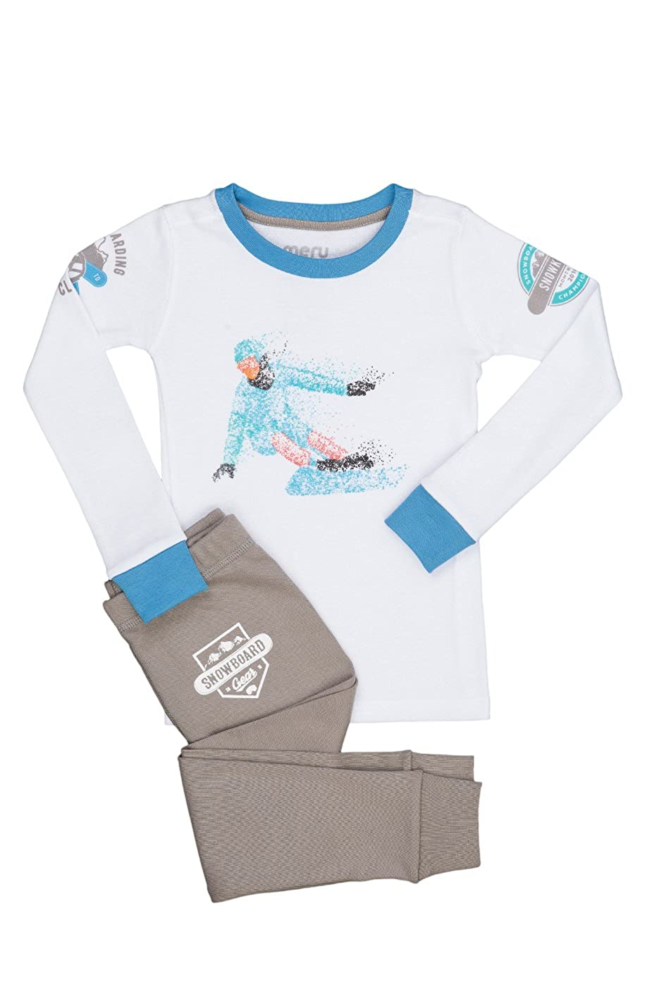 Meru Boys and Girls Unisex Snow Boarder Pajama Set