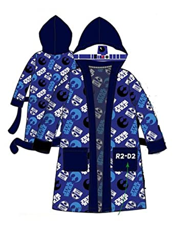 d7958211a3cd3 DISNEY, STAR WARS - Peignoir de Bain - Garçon Bleu Bleu Marine: Amazon.fr:  Vêtements et accessoires