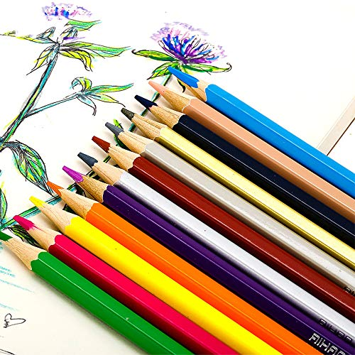 Watercolor Pencils Set, SouthStar 48pcs Water-Soluble colored Art Drawing Pencils in a Pencil Wrap with a Paint Brush,Ideal for Coloring, Blending and Layering, Watercolor Techniques