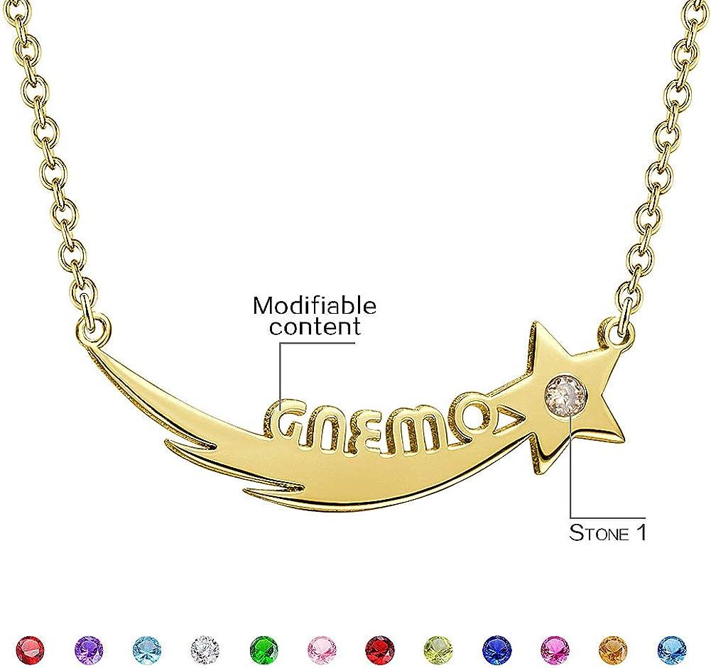 SOUFEEL Collar Plata Colgante con Nombre Infinito Personalizados Regalo para Familia Cadena M/ás Extenci/ón