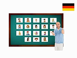 Describing People Flashcards in German Language - Flash Cards with Matching Bingo Game for Toddlers, Kids, Children And Adults - Size 4.13 × 5.83 in - DIN A6 Children And Adults - Size 4.13 × 5.83 in - DIN A6 Yo-Yee Flashcards