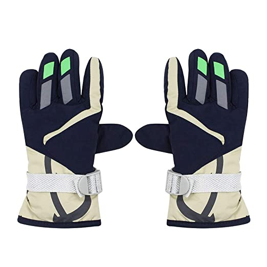55c492921 Image Unavailable. Image not available for. Color: Kids Waterproof Winter  Ski Gloves, Thinsulate Lined ...