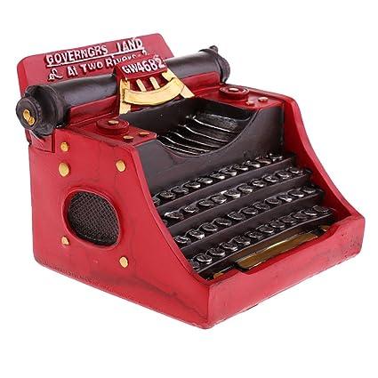 Homyl Modelo de Máquina de Escribir Hecho de Resina 14x11x9.5 cm Accesorios Ornamento de