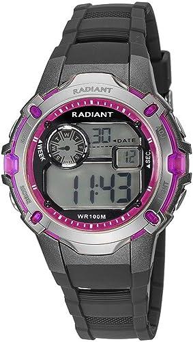 Radiant Reloj Digital para Hombre de Cuarzo con Correa en Caucho RA263601: Amazon.es: Relojes