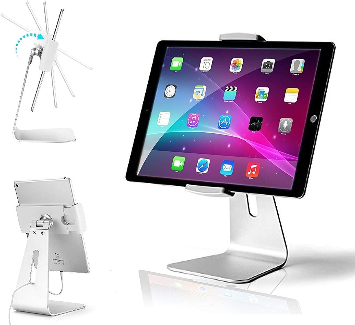 AboveTEK Elegant Tablet Stand and iPad Lock Security Cable