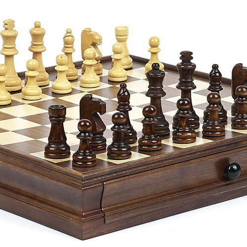 New York Stock Exchange Deluxe Wooden Chess & Checkers Set (Board Chess Deluxe)