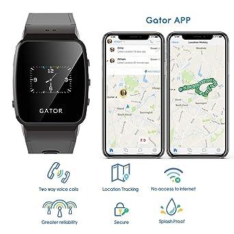 Reloj GPS Gator para niños de Techsixtyfour - Negro: Amazon.es ...