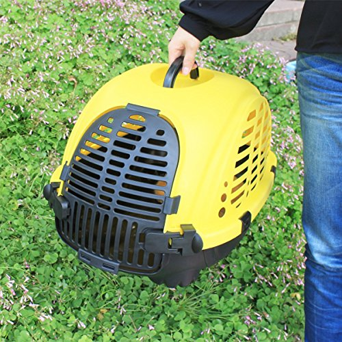 Favorite Cart Travel Portable Small Animal Cat Dog Pet Carrier, Yellow