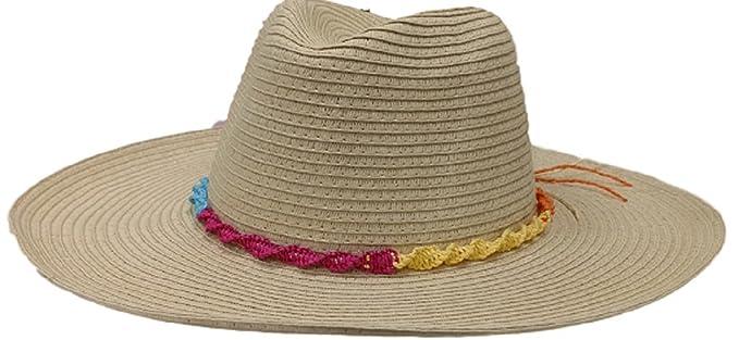 03d4bac0b1d Amazon.com  Panama Jack Women s Paper Braid Safari Hat (Natural ...