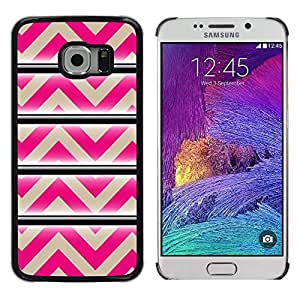 Exotic-Star ( Pattern Pink Beige Lines Abstract ) Fundas Cover Cubre Hard Case Cover para Samsung Galaxy S6 EDGE / SM-G925 / SM-G925A / SM-G925T / SM-G925F / SM-G925I