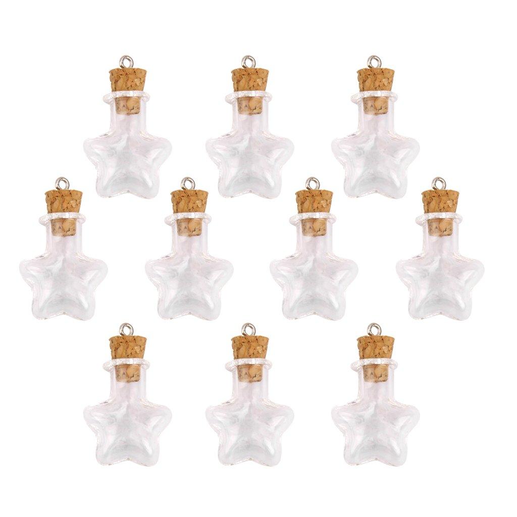 Star Shaped Mini Glass Bottles