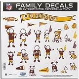 NFL Washington Redskins Large Family Decal Set