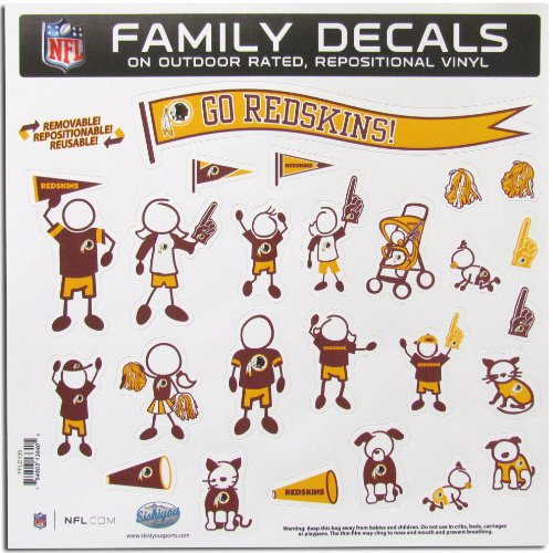 - NFL Washington Redskins Large Family Decal Set