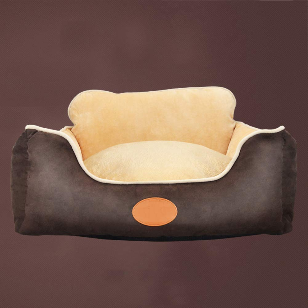 B Large B Large Washable Dog Bed for Large Medium Small Dog, Soft Cozy Non-Skid Suede Pet Nest Four Seasons Universal Pet Mat Brown,B,L