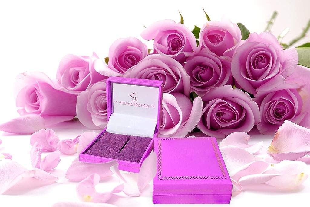 Sreema London anelli di fidanzamento in argento 925 con/brillanti cristalli Fedi taglio rotondo