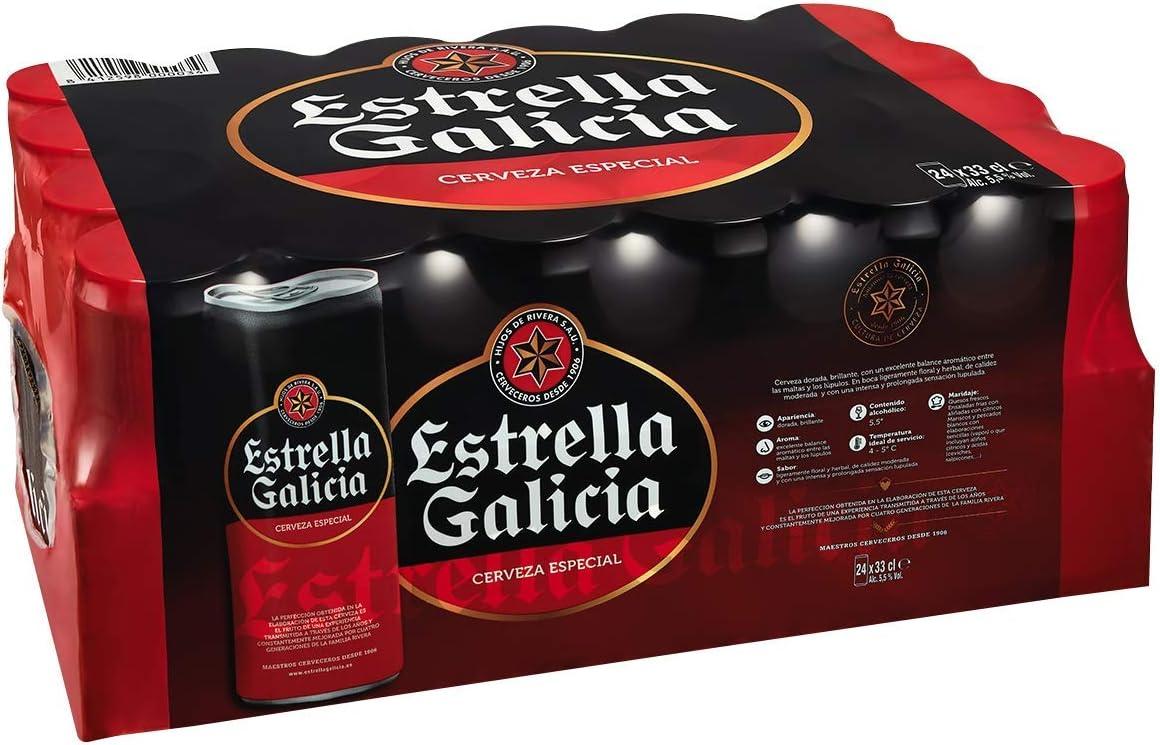 Estrella Galicia Especial Cerveza - Pack de 24 latas x 330 ml - Total: 7.92 L: Amazon.es: Alimentación y bebidas