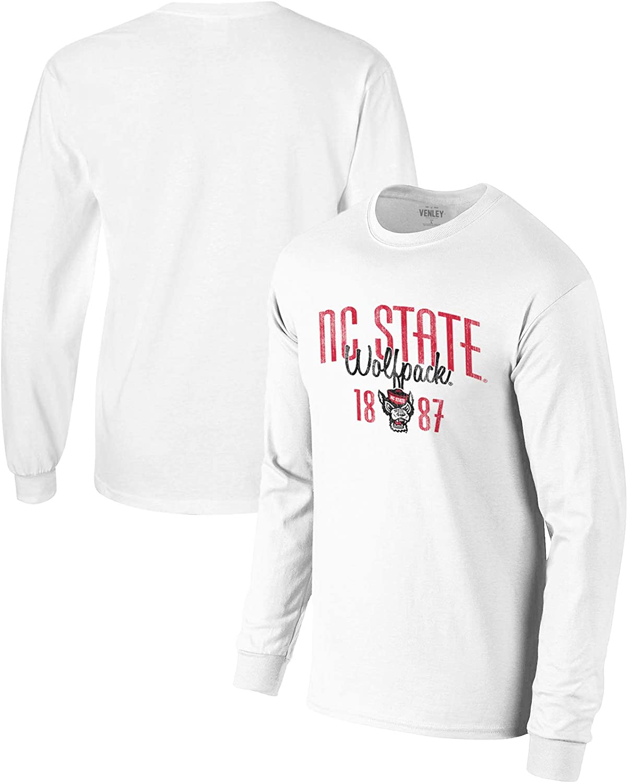 Official NCAA NC State Wolfpack 01AMFZ13 Mens//Womens Boyfriend Long Sleeve Tee