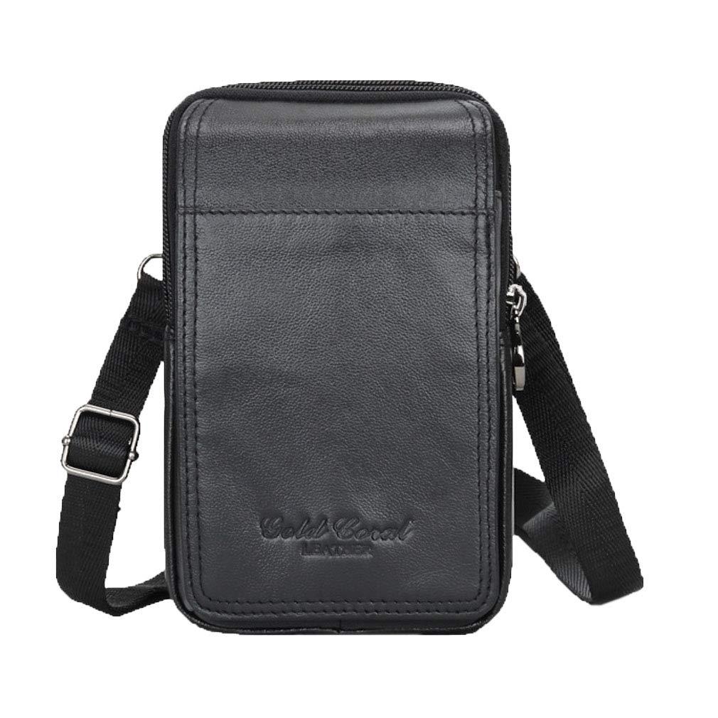 3fa27c1ddf62 Amazon.com | Xieben Small Bag Waist Pack for Men Leather Hip Belt ...
