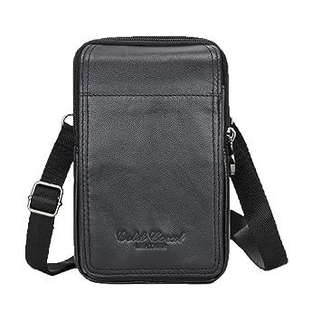 57b37d023a3 Xieben Small Bag Waist Pack for Men Leather Hip Belt Buckle Shoulder  Messenger Crossbody Fanny Wallet