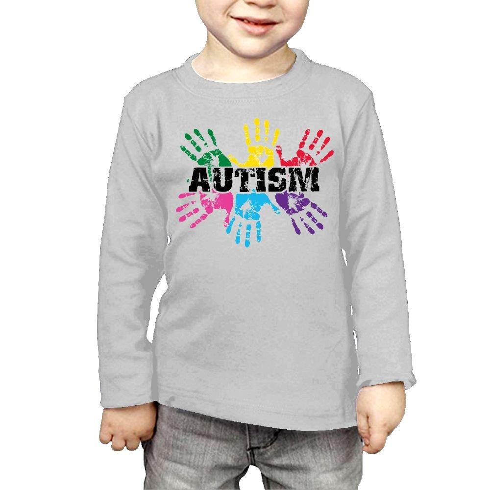 Arromper Autism Awareness Girls&Boys Long Sleeve T-Shirts Gray