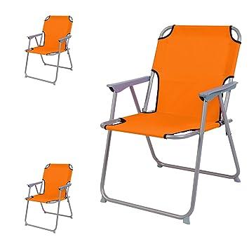 Mojawo 3 pieza Bresetech - Silla plástico oxfort Naranja ...