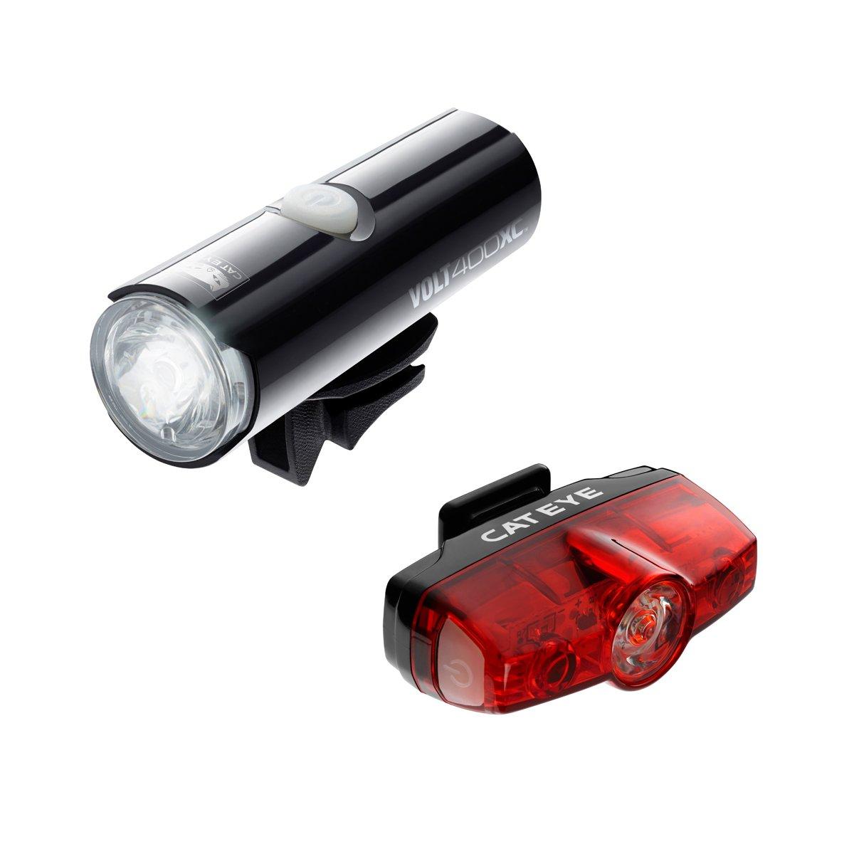 CatEye Volt 400 XC/Rapid Mini Set Lights and Reflectors, Cycling - Black, NO SIZE CA490V400MIN