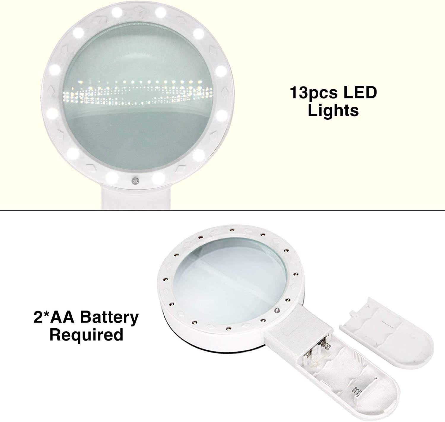Magnifying/Glass/with/Light,/30X/Handheld/Large/Magnifying/Glass/13/LED/Illuminated/Lighted/Magnifier/for/RC/Installation,/Seniors/Reading,/Inspection,/Coin