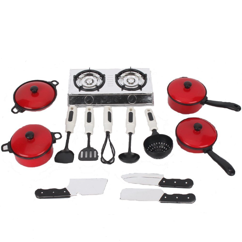 COTTONTAIL Kids Complete Kitchenware Play Set with Pots, Pans and Cookware