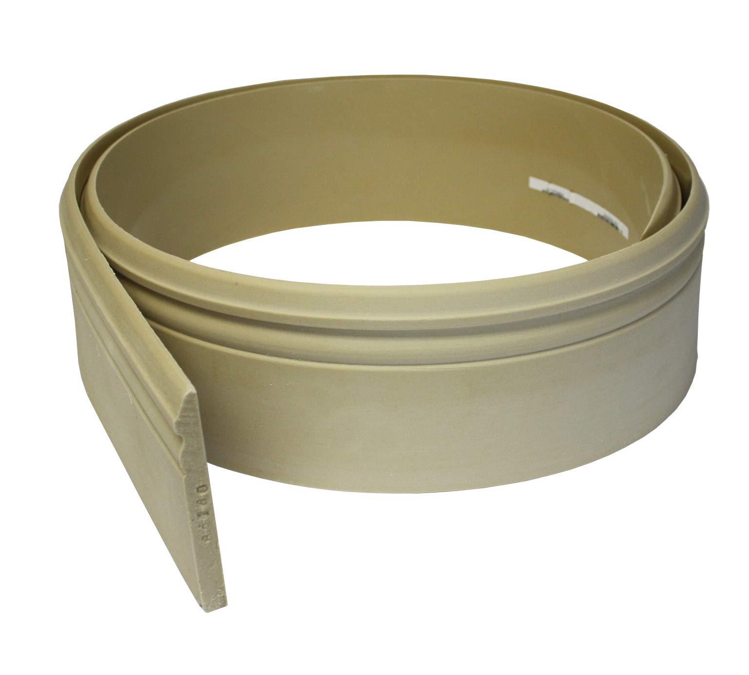 Flexible Moulding - Flexible Base Moulding - B5180-1/2'' X 5-1/4'' - 8' Length - Flexible Trim by Duraflex by Resinart
