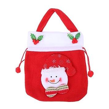 Amazon.com: Bolsas de Navidad con cordón, reutilizables ...