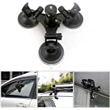 TUYUNG Action Video Triple Cup Camera Suction Mount w/Ball Head for Nikon Canon Sony DSLR/Camcorder, SJCAM SJ5000 SJ6000…