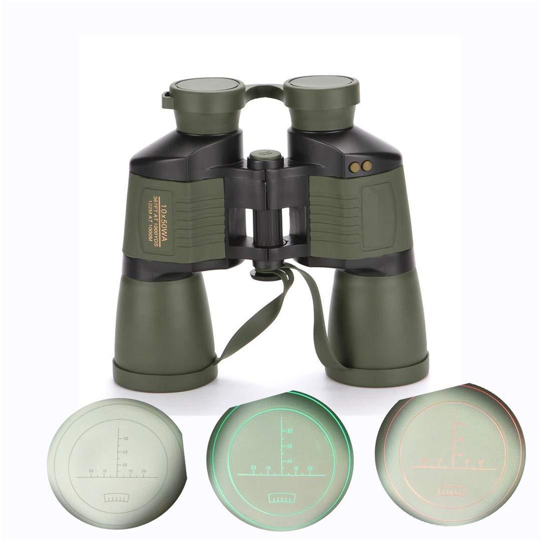 高級素材使用ブランド NIHIHIP HD 10X50 オートフォーカス 防水 レンジファインダー 双眼鏡 望遠 ハンティング 観光 アウトドア アイピース 双眼鏡  グリーン B07KS2P2TQ, カスガムラ b2c0655a