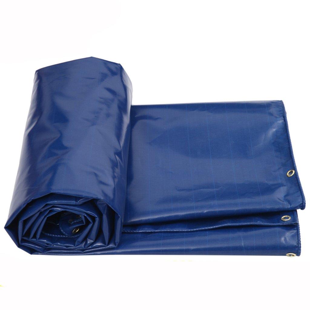 厚い防水性防水透湿性日焼け止め屋外日除け布防水性防水シート防水テント (色 : Blue, サイズ さいず : 5 * 4m) B07FLZKQ53 5*4m|Blue Blue 5*4m