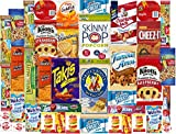 NEW & IMPROVED Assortment Cookies Chips & Candies Snacks Variety Pack Bulk Sampler Pack for Office, Meetings, Schools, Friends & Family, Military, College, (Care Package 40 Count)