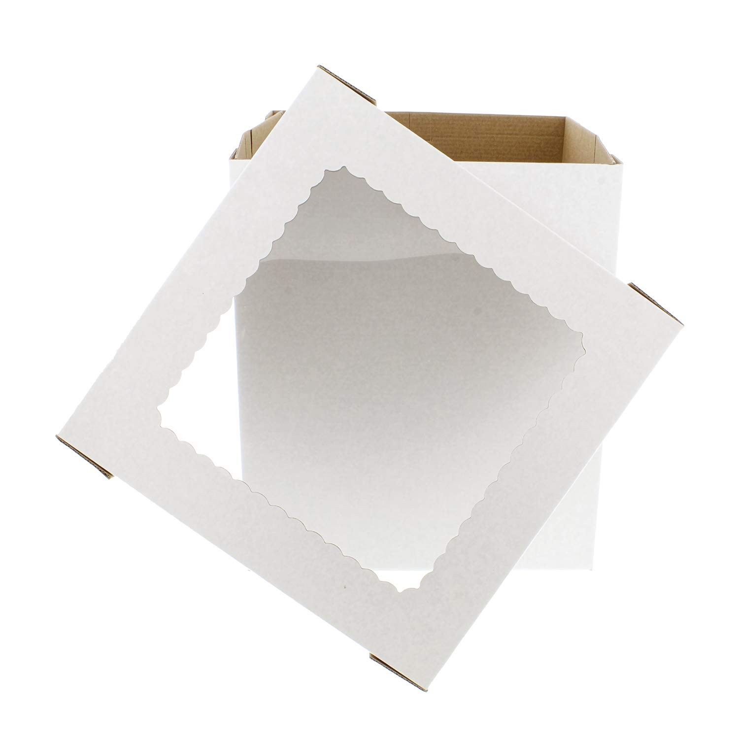 SpecialT Cake Boxes with Window 25pk 12'' x 12'' x 8'' Inch White Bakery Boxes, Disposable Cake Containers, Dessert Boxes by SpecialT (Image #6)