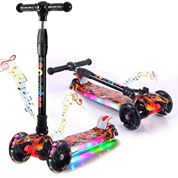 NGB Scooter Mini Deluxe Tilt y Turn Ligero Kick niños ...