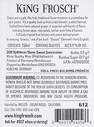 2011 King Frosch Dry Gewürztraminer 750 mL Wine